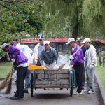 松本城公園内 清掃活動
